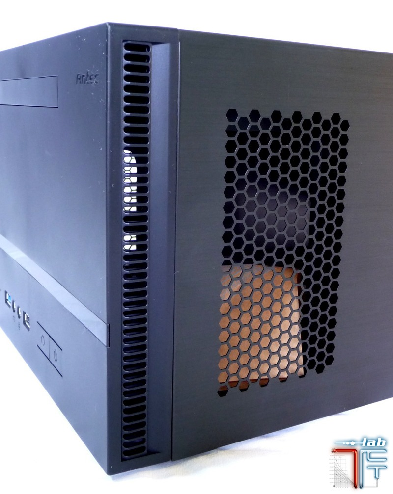 Antec ISK 600 extern detail side grid