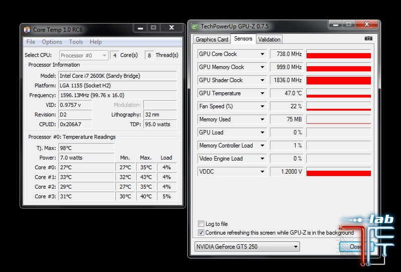 bitfenix colossus temp idle