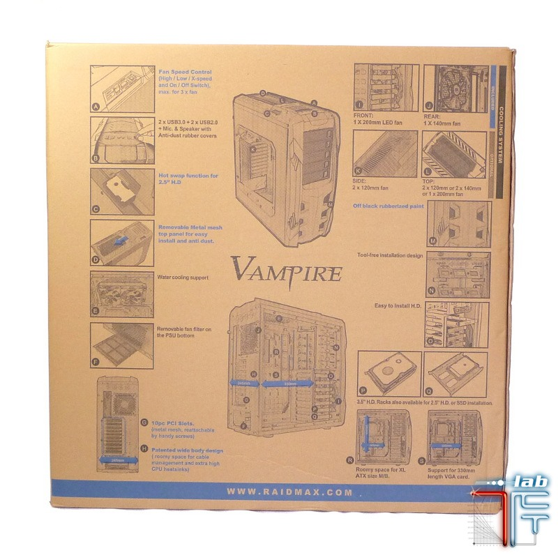 Raidmax Vampire box2 back