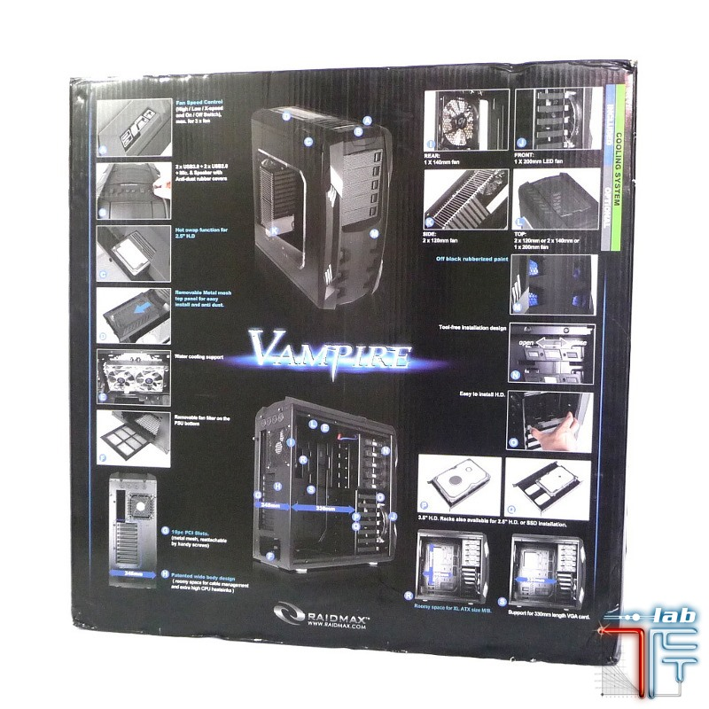 Raidmax Vampire box back
