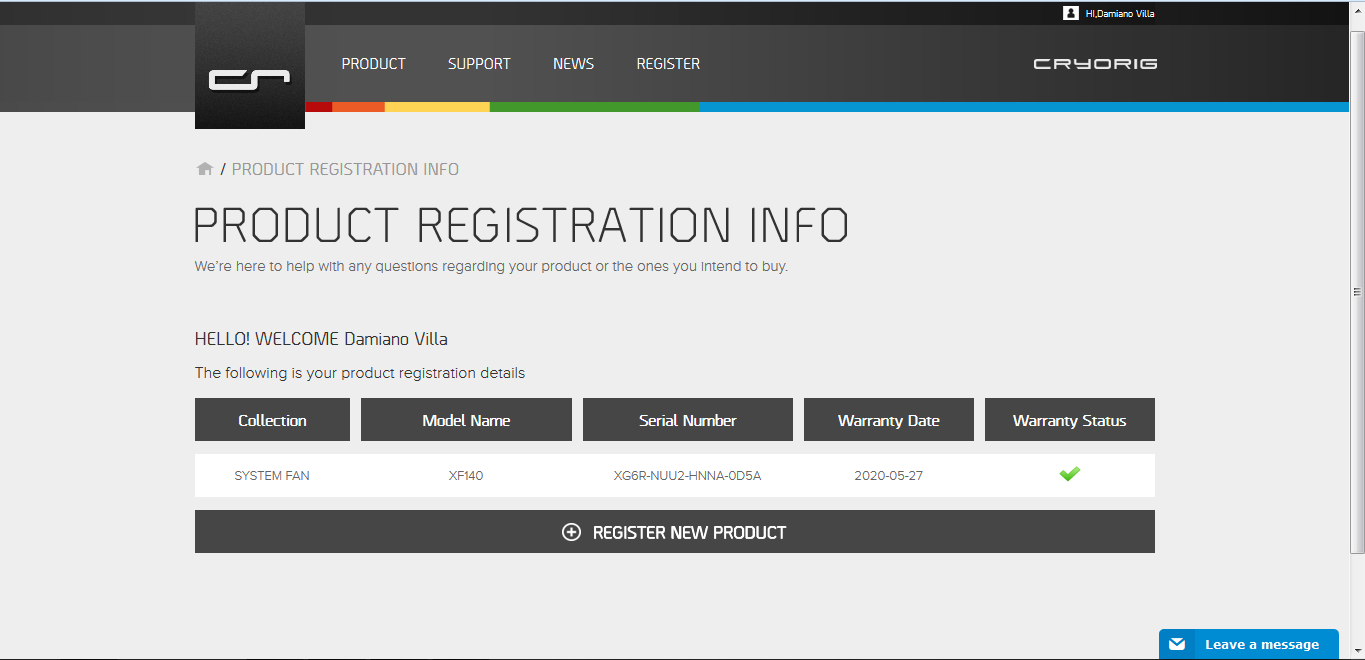 cryorig registration 4