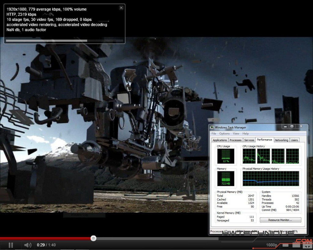 Edge HD2 youtube 2