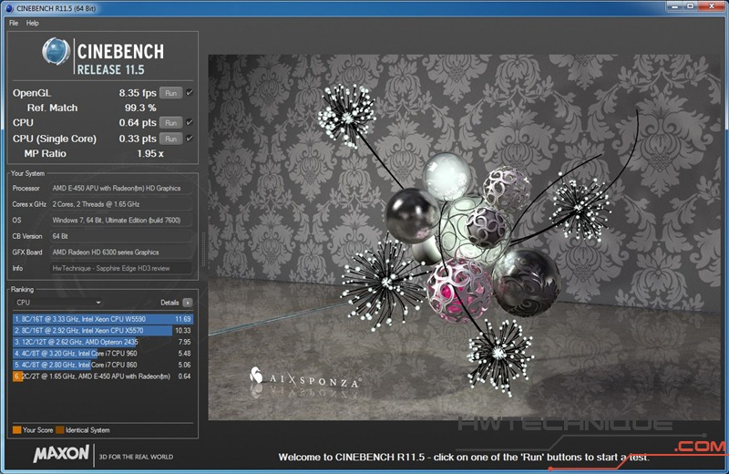 EDGE HD3 Cinebench CPU