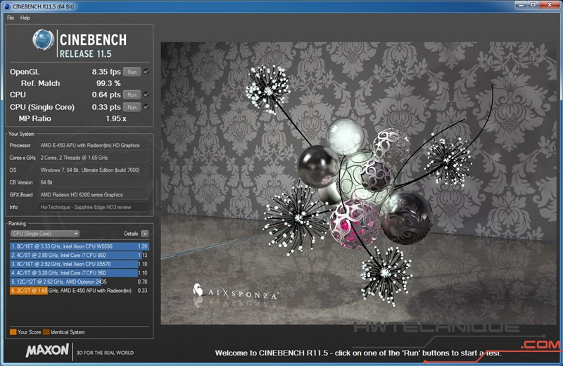 EDGE HD3 Cinebench SingleCore