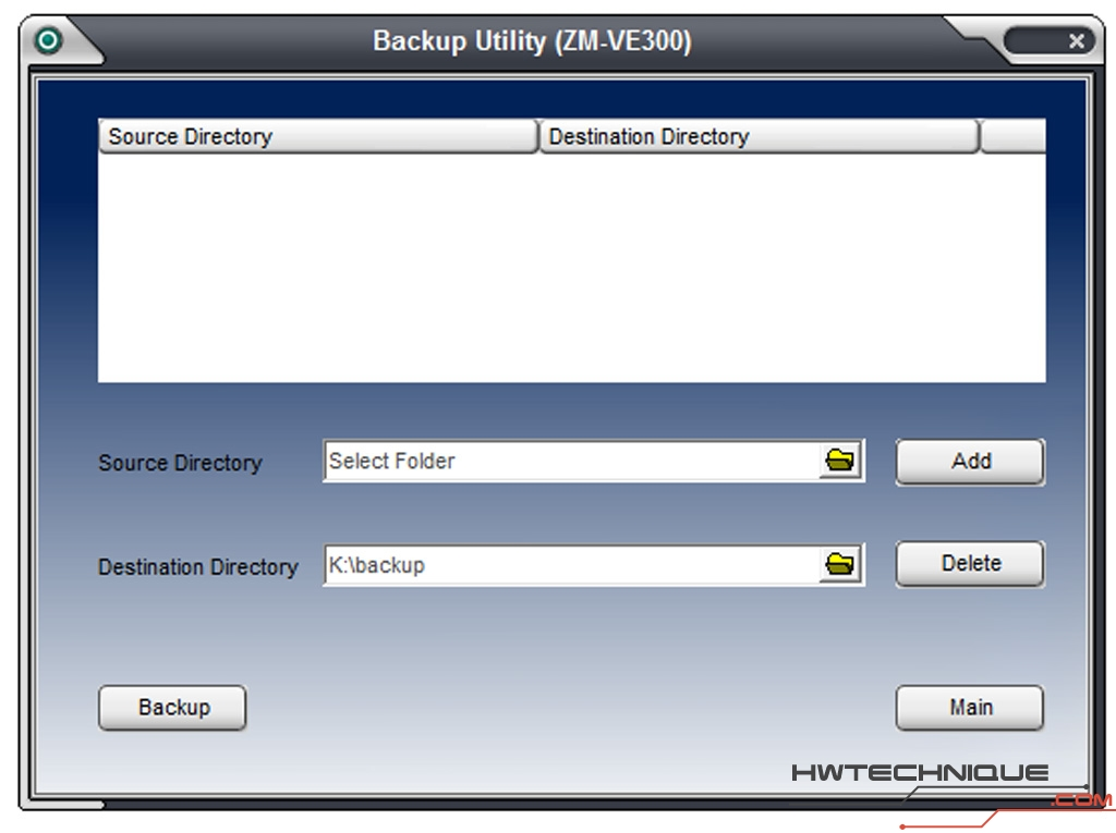 ve-300 software backup